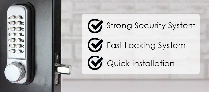All-Weather Double Keypad Mechanical Keyless Door Lock advantage