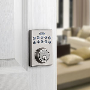 Kwikset 92640-001 Contemporary Electronic Keypad Single Cylinder Deadbolt with 1-Touch Motorized Locking
