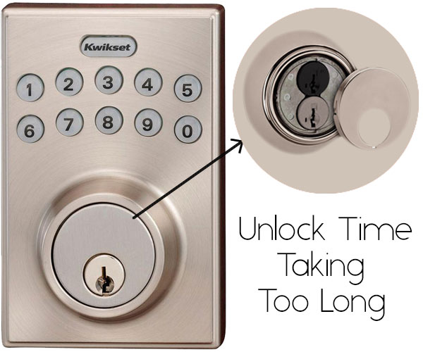 Kwikset 92640-001 Contemporary Electronic Keypad disadvantages