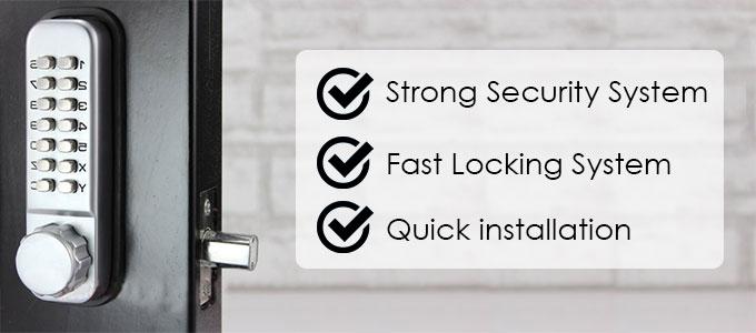 All-Weather Double Keypad Mechanical Keyless Door Lock advantage