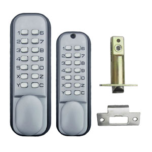 All Weather Double Keypad Mechanical Keyless Door Lock By