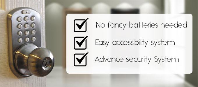 MiLocks DKK-02SN Indoor Electronic Touchpad Keyless Lock advantage